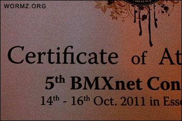 BMXnet sertifikaatti