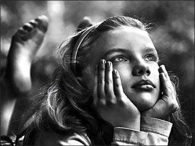 Pondering girl