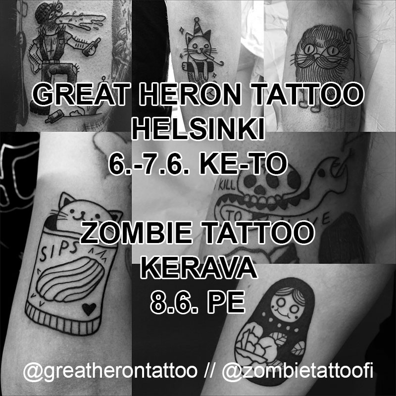 Great Heron Tattoo & Zombie Tattoo visit
