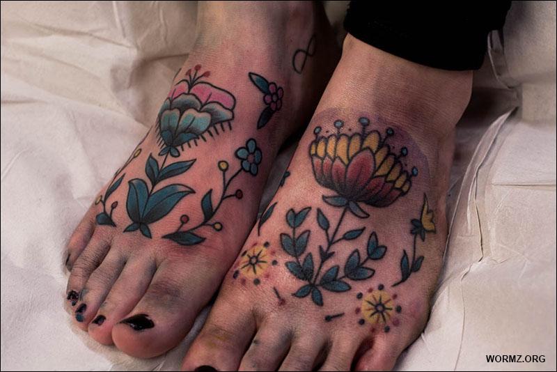 kukka tatuointi