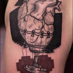 Graphic anatomy heart tatuointi